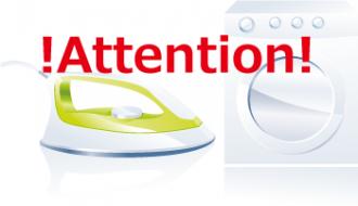 アイロン洗濯にも注意が必要