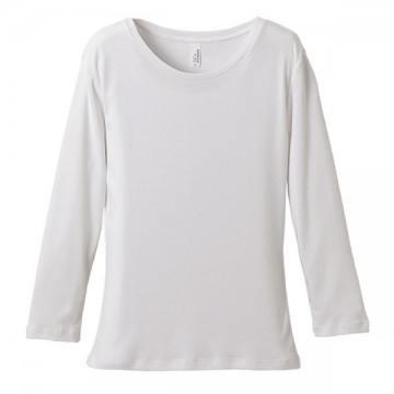 6.2オンスCVCフライス3/4スリーブTシャツ001.ホワイト