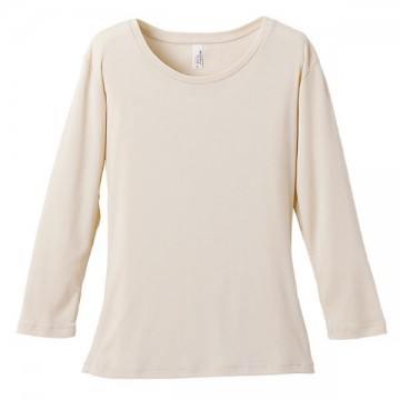 6.2オンスCVCフライス3/4スリーブTシャツ019.ナチュラル
