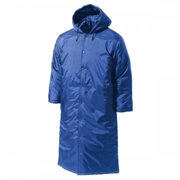 ロング中綿コート03.ブルー