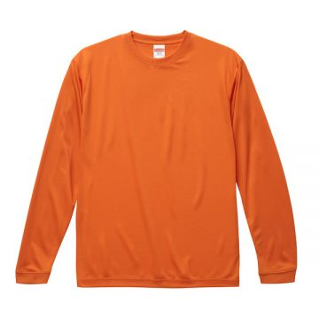 ドライシルキータッチロングスリーブTシャツ064.オレンジ