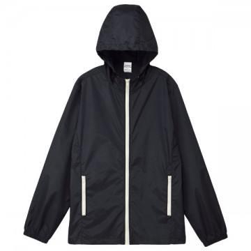 カラージップジャケット066.ブラック×ホワイト