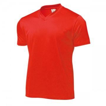 ドライライトVネックTシャツ11.レッド