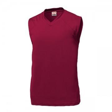 ベーシックバスケットシャツ14.バーガンディ