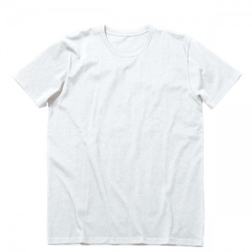 オーガニックコットンクルーネックTシャツ15.ホワイト