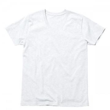 オーガニックコットンVネックTシャツ15.ホワイト