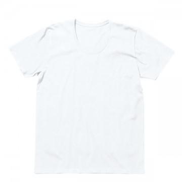 オーガニックコットンUネックTシャツ15.ホワイト