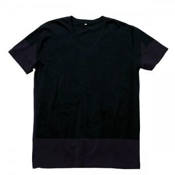 オーガニックコットンVネックTシャツ16.ブラック