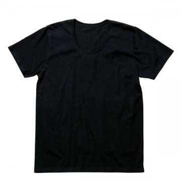 オーガニックコットンUネックTシャツ16.ブラック