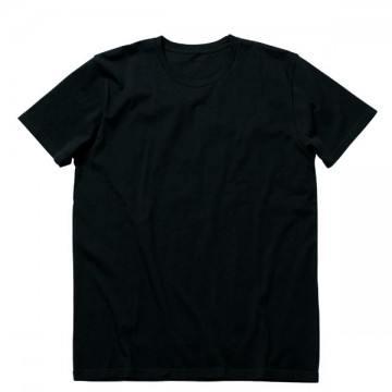 オーガニックコットンクルーネックTシャツ16.ブラック
