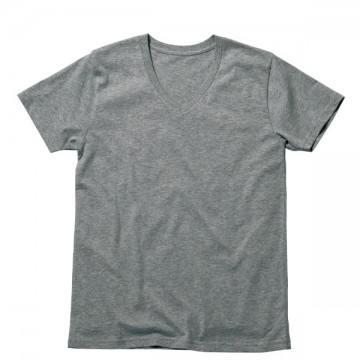 オーガニックコットンVネックTシャツ2.杢グレー