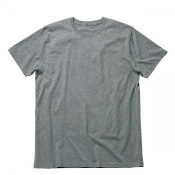 オーガニックコットンクルーネックTシャツ2.杢グレー