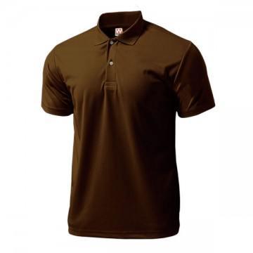 ドライライトポロシャツ52.ブラウン