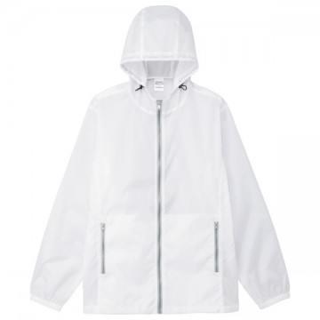 カラージップジャケット601.ホワイト×グレー