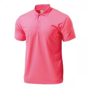 ドライライトポロシャツ70.蛍光ピンク