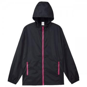 カラージップジャケット746.ブラック×ホットピンク