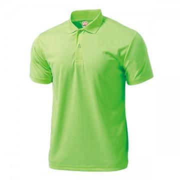 ドライライトポロシャツ76.蛍光グリーン