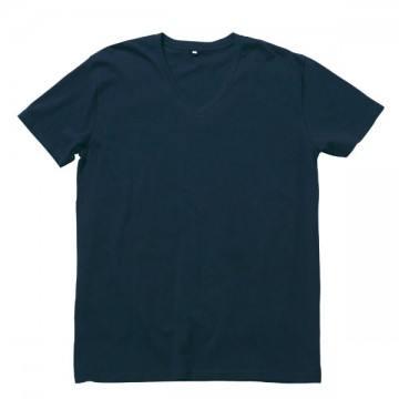 オーガニックコットンVネックTシャツ8.ネイビー