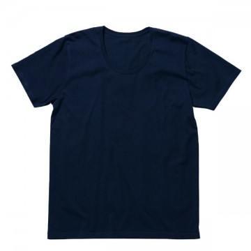 オーガニックコットンUネックTシャツ8.ネイビー