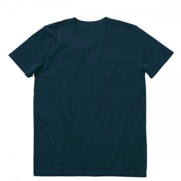 オーガニックコットンクルーネックTシャツ8.ネイビー