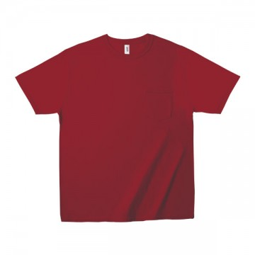 ミッドウェイト ポケットTシャツ 5.4オンス339C,インディペンデンスレッド