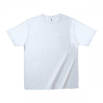 ミッドウェイト ポケットTシャツ 5.4オンス30N,ホワイト