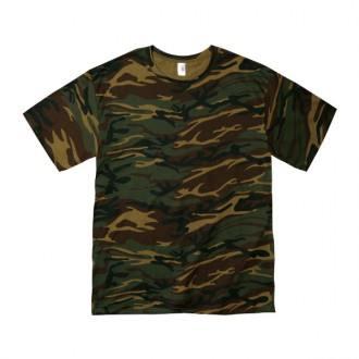 カモフラージュTシャツ 4.9オンス 939グリーン