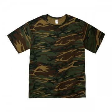 カモフラージュTシャツ 4.9オンス306C,カモフラージュグリーン
