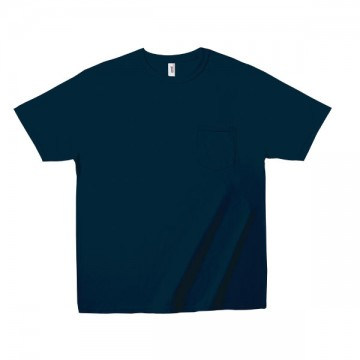 ミッドウェイト ポケットTシャツ 5.4オンス32C,ネイビー