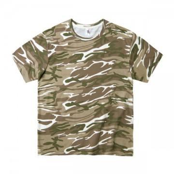 カモフラージュTシャツ 4.9オンス324C,カモフラージュサンド