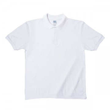 Easy Care ブレンドダブルピケポロシャツ6.3オンス30N,ホワイト