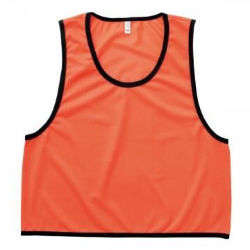 ビブス43.蛍光オレンジ