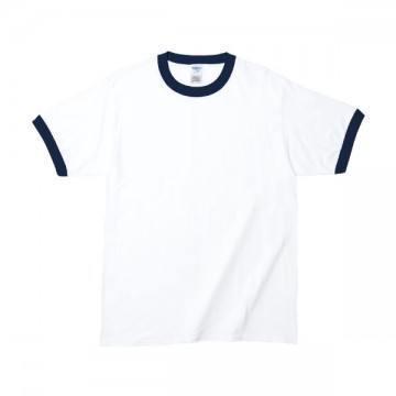 RSコットンリンガーTシャツFA030,ホワイト/ネイビー