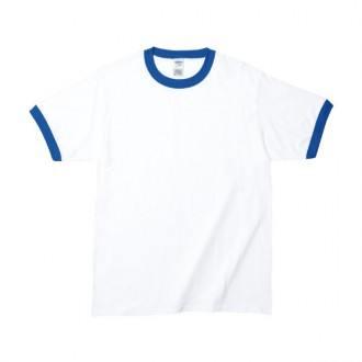 RSコットンリンガーTシャツ 76600ホワイト/ロイヤル