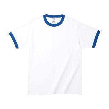 RSコットンリンガーTシャツFE030,ホワイト/ロイヤル