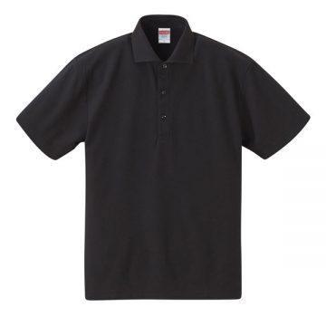 5.3オンスドライカノコユーティリティーポロシャツ002.ブラック