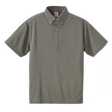 4.1ozドライアスレチックボタンダウンポロシャツ013.グレー