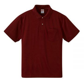 4.1オンスドライアスレチックポロシャツ(ポケット付)072.バーガンディ