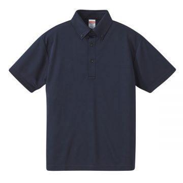4.1ozドライアスレチックボタンダウンポロシャツ086.ネイビー