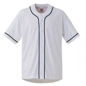4.4オンスドライベースボールシャツ1086.ホワイト/ネイビー