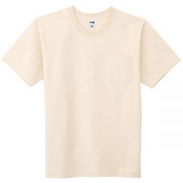 10.2ozスーパーヘビーウェイトTシャツポケット付き115.ナチュラル