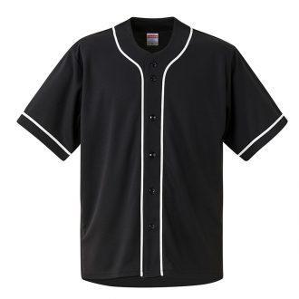 4.4オンスドライベースボールシャツ1445ブラック×ホワイト