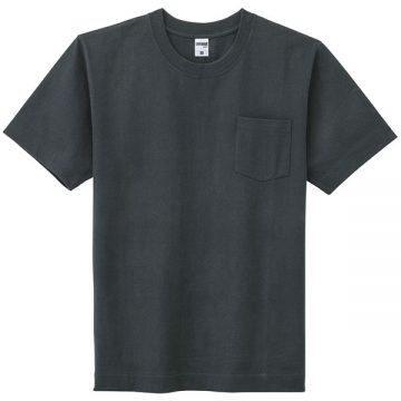 10.2ozスーパーヘビーウェイトTシャツポケット付き16.ブラック