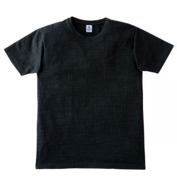 スラブTシャツ16.ブラック