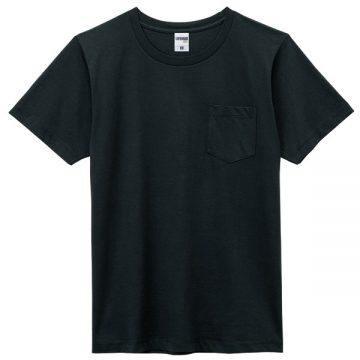 ユーロポケット付きTシャツ16p.ブラック