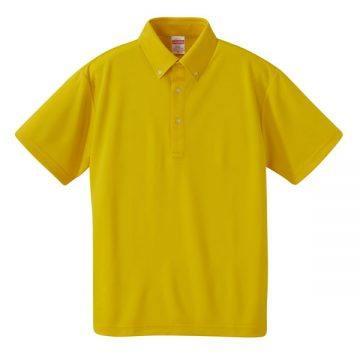 4.1ozドライアスレチックボタンダウンポロシャツ190.カナリアイエロー