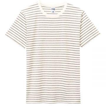 ユーロボーダーTシャツ2B.杢グレーボーダー