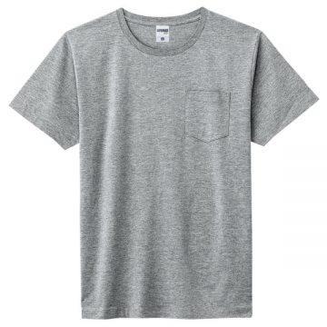 ユーロポケット付きTシャツ2p.杢グレー