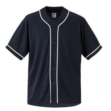 4.4オンスドライベースボールシャツ2001.ブラック/ホワイト