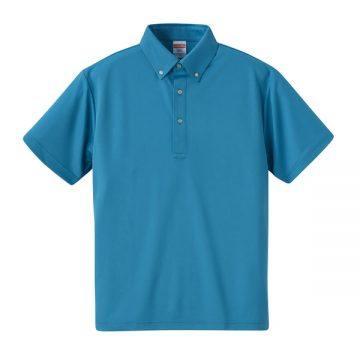 4.1ozドライアスレチックボタンダウンポロシャツ538.ターコイズブルー